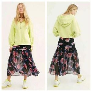 Free People Floral Maxi Skirt XSmall
